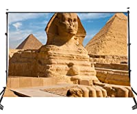 Lyly郡( 10x 7ftポリエステル写真バックドロップエジプトピラミッドスフィンクスシーン個人用縦写真背景Studio小道具107–338