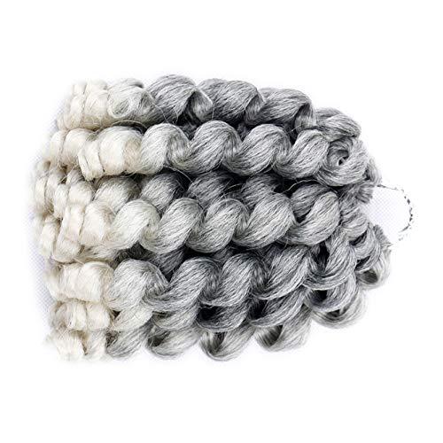 Blondwigs #Black Color Wand Curl Hair Crochet Hair Havana Mambo Twist Synthetic Braiding Hair Piece 10Inch 20 Roots/Pack 5Packs/Lot