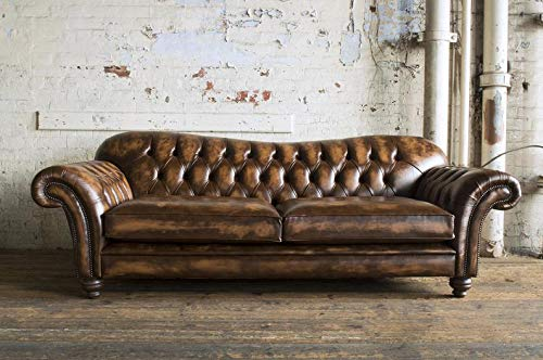 JVmoebel Ledersofa Sofa Couch Garnitur Sofas Couchen Chesterfield Leder Polster 3 Sitzer