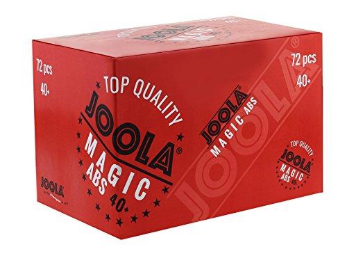 JOOLA Unisex– Erwachsene Magic Abs 40+ Tischtennisbälle, weiß, One-Size