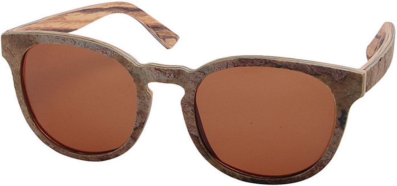 STEVAP Vintage Sunglasses Handmade Stone and Wooden Polarized TAC Lens UV Predection Driving Beach Sunglasses