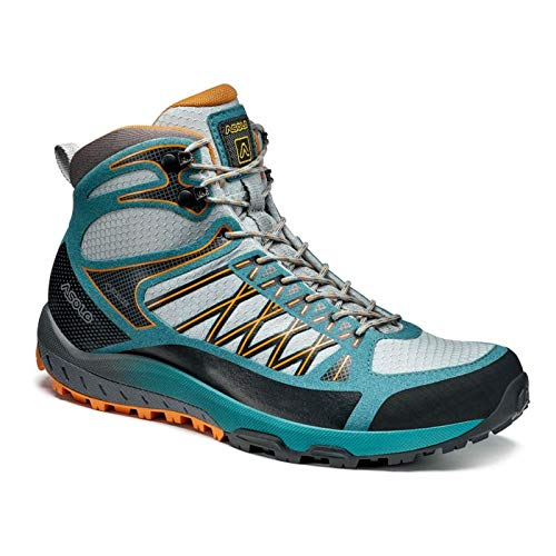 Asolo Grid Mid GV Hiking Shoes - Women's, Sky Grey/North Sea, 6.5 US, A40517-899-065