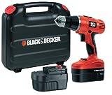 BLACK+DECKER EPC188BK 18 V NiCd Hammer Drill (2 Batteries and Kitbox)