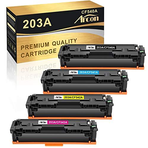Arcon 203A Cartouche de Toner Compatible pour HP 203X 203A CF540X CF540A pour HP Color Laserjet Pro MFP M281fdw M281fdn M280nw M281cdw HP Color Laserjet Pro M254dw M254nw M254dn HP 203X HP 203A Toner