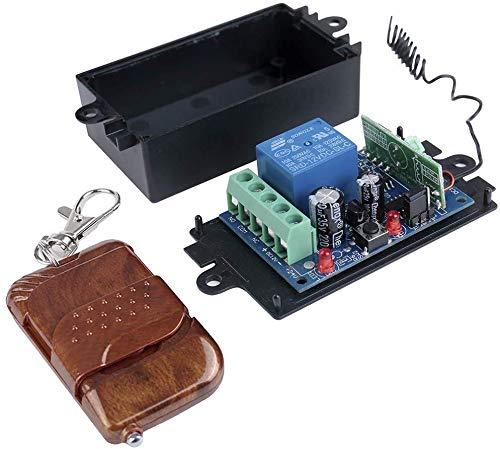 ONKYOU RF ワイヤレス リモコン 送信 受信 リレー スイッチ DC12V 10A シングル チャンネル 315MHz モジュール ケース付き改良版