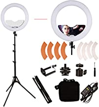 GSKAIWEN 18 inch 65W LED Ring Light Mirror Make Up Beauty Light Studio Video Light Photography Lighting with Stand Bag for Portrait Selfie,Wedding Photography, Night Video,YouTube, Camera/Phone Video