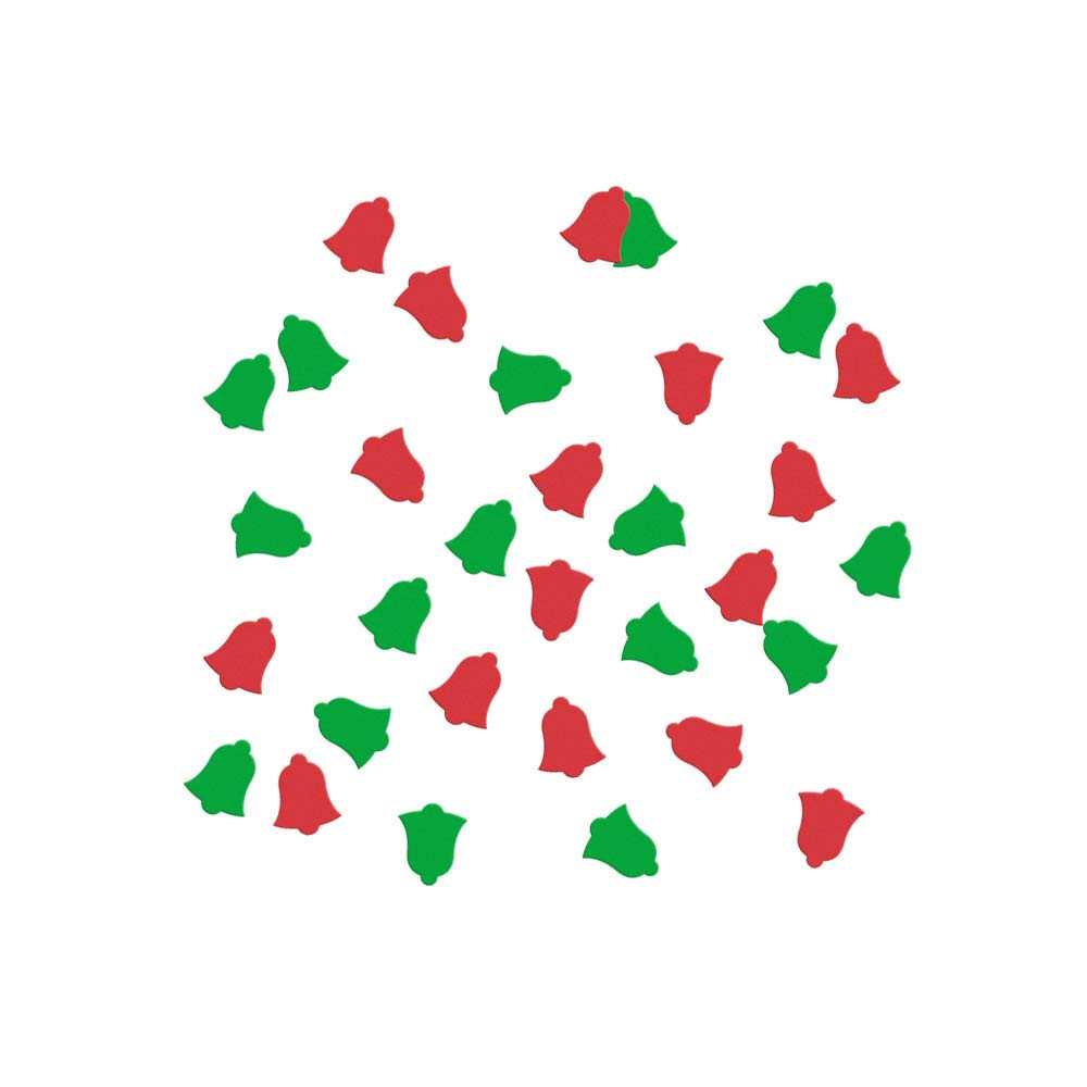 Christmas Bell Confetti for High quality Holiday Green and Red Ranking TOP18 Christm Party