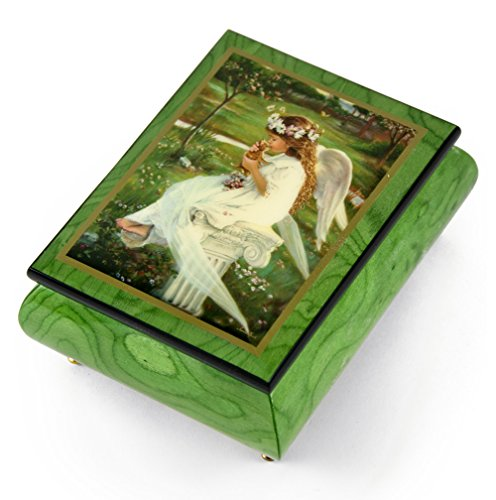 Handcrafted Ercolano Music Box Featuring Kitten Kisses by Sandra Kuck - Many Songs to Choose - Hark! The Herald Angels Sing