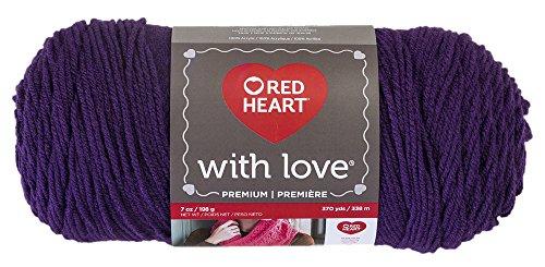 Red Heart With Love Yarn, Aubergine