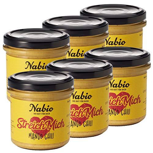 Nabio Mango Tango - Bio Brot-Aufstrich Mango Chili - vegan, 6er Pack (6 x 130 g)