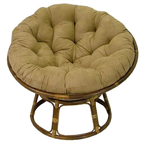 International Caravan Rattan Papasan Chair with Cushion