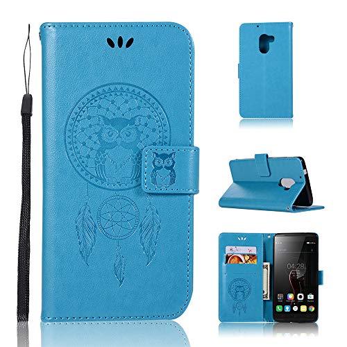 JARNING Kompatibel mit Lenovo A7010/K4 Note Leder Schutzhülle PU Leder Wallet Flip Hülle Tasche Lederhülle mit Kartenfach für Lenovo A7010/K4 Note (blau)