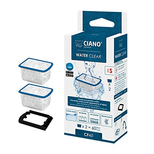 Ciano SM / CF40 Water Clear-Filterpatrone für das Aquarium, 2 Stück