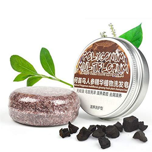 Hair Darkening Shampoo Bar, Anti Grey Hair Solid Shampoo Soap, Organic Conditioner, Naturally Restores Pigment Cells, Repair Dry Damaged Hair Anti Hair Loss (3Pcs)