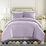 Hotel Luxury 3pc Duvet Cover Set TODAY-1500 Thread Count Egyptian Quality Ultra Silky Soft Premium Bedding Collection, 100% -Queen Size Lavender