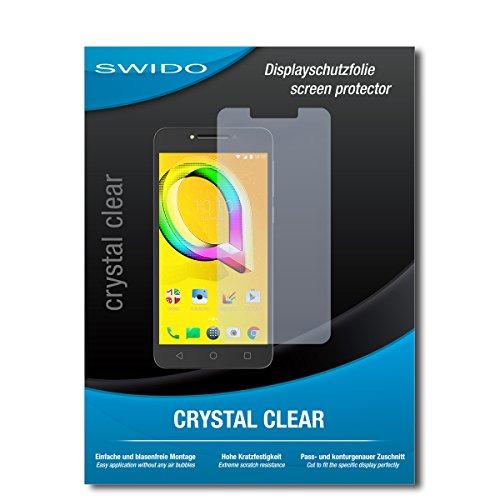 SWIDO Bildschirmschutz für Alcatel A5 LED [4 Stück] Kristall-Klar, Hoher Festigkeitgrad, Schutz vor Öl, Staub & Kratzer/Schutzfolie, Bildschirmschutzfolie, Panzerglas Folie