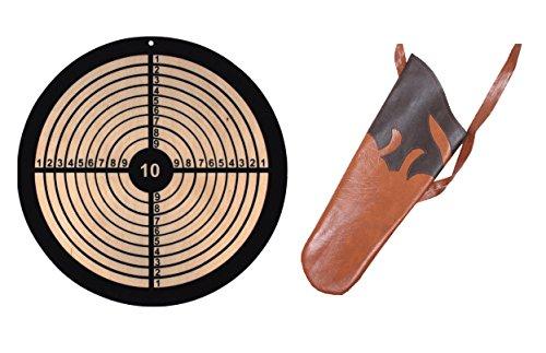 Holzspielerei Zielscheibe rund für Saugnapf & Köcher für Pfeile Kinder Set (Zielscheibe rund)