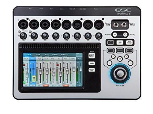 Find Bargain QSC TouchMix-8 Compact Digital Mixer with Bag (Renewed)