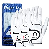 Men Golf Gloves Cabretta Leather Value 3 Pack, Left Right Hand Soft...