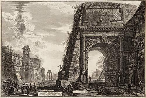 Giovanni Battista Piranesi Giclee Papel de Arte impresión Obras de Arte Pinturas Reproducción de Carteles(Vista del Arco de Tito) #XZZ