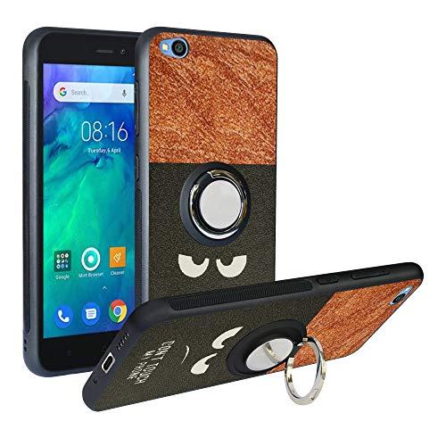 Alapmk Cover per Xiaomi Redmi Go Cover, [Pattern Design] TPU Case con Girevole Regolabile 360 Magnetica per Xiaomi Redmi Go,Do Not Touch