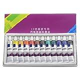 Lergo 24 colores 12 ml/tubo de pintura acrílica juego para pintar dibujo talla única 12