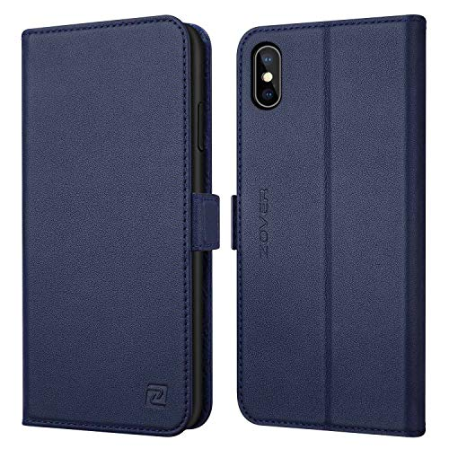 ZOVER Coque iPhone X, Coque iPhone XS, Housse Portefeuille en Cuir...