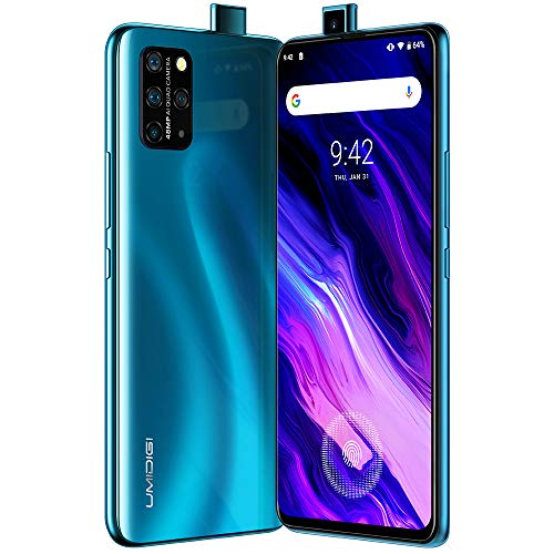 UMIDIGI S5 Pro, Smartphone 6GB 256GB, Sensore di Impronte Sotto al Display AMOLED da 6,39' FHD+, Selfie Pop-up, Quad Camera AI 48MP, Processore Helio G90T Gaming, 4680mAh, NFC - Ocean Blue