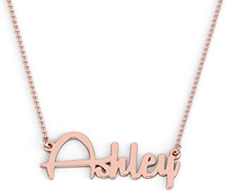 14K Personalized Name Necklace in Remachine Font by JEWLR