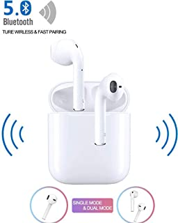 Bluetooth Wireless Earbuds Noise Canceling Sports Headphones with Charging Case IPX5 Waterproof Stereo Earphones in-Ear Built-in HD Mic Headsets for iPhone Android Apple Airpod