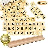 letras scrabble madera Azulejos Scrabble Letras de Madera de Scrabble Artesanía Alfabeto Scrabble Rompecabezas Alfabetos Artesanía