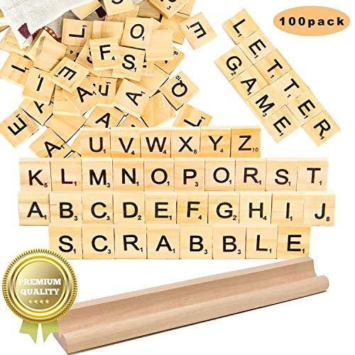 letras scrabble madera Azulejos Scrabble Letras de Madera de Scrabble Artesana Alfabeto Scrabble Rompecabezas Alfabetos Artesana