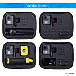 CamKix Case Compatible with GoPro Hero 7 / 6 / 5 Black - Perfect for Travel and Storage - Versatile EVA Interior with… 16 TRAVEL + STORAGE CASE: Keep your GoPro Hero 6 / 5 camera and accessories organized, dust-free and protected inside this case. Grab & Go when you're ready to shoot some spine-chilling action. Store it, when you're not. FOR GOPRO HERO 7/6/5 AND ACCESSORIES: This case is designed specifically for the GoPro Hero 5 Black camera. Tailor made, fits perfectly. The elastic mesh pocket and extra compartments are ideal to store flat mounts, quick release buckles, thumb screws, USB cable, memory cards, etc. VERSATILE INTERIOR: You can remove/add parts of the high quality EVA material to create different interior layouts for various purposes (see pictures for examples). Any interior layout you create will fit your GoPro Hero 5 camera and accessories seamlessly. The shock-absorbing padding provides extra protection to your camera and other equipment stored inside the case.