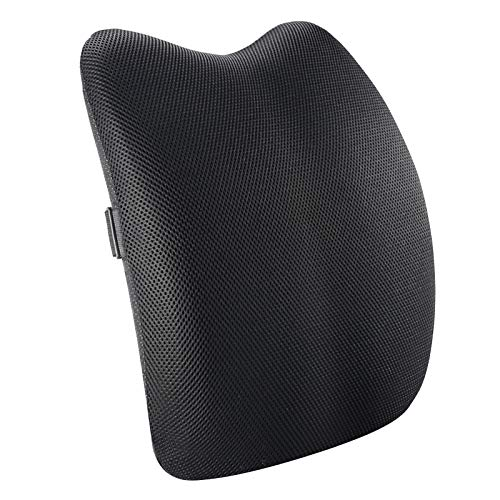 LQKYWNA Lumbar Support Memory Foam Back Support Cushion Pillow for Car Seat Office Chair Upper & Lower Back Position Improving