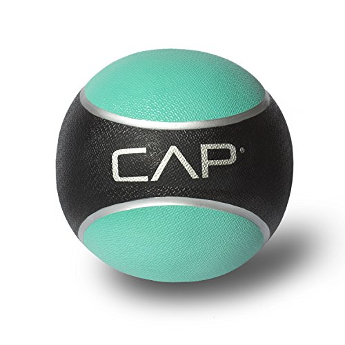 CAP Barbell Rubber Medicine Ball, 2-Pound, Teal