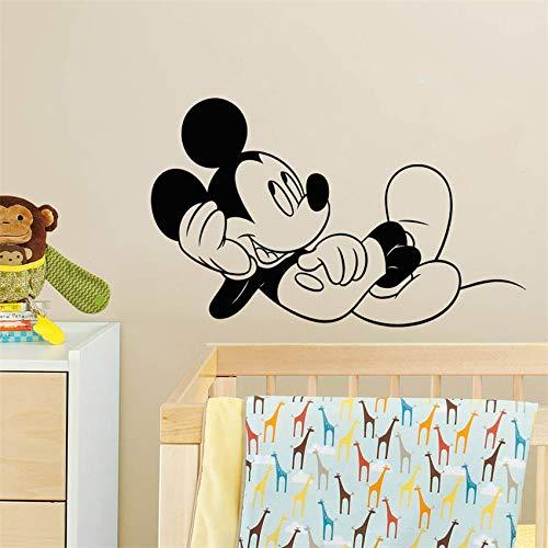 BailongXiao Cartoon Mouse Camera da Letto Decorazione della casa Decalcomania della Parete Camera dei Bambini Decorazione di Arte Carina Decorazione della casa Adesivo da Parete Rimovibile 104x64 cm