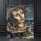 Impresión de Lienzo de Pared Arte Imagen Raquel Forner istic De Mármol 31X38cm Pintura al óleo lienzo para decoración