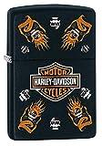 Zippo Harley-Davidson Metal Pocket Lighter, Black Matte, One Size (218-CI008526)