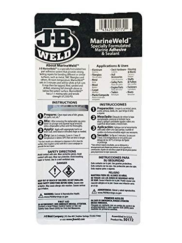J-B Weld 50172 MarineWeld Epoxy Syringe