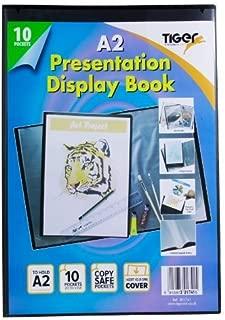 A2 Premium Black Cover Display Book Presentation Folder Portfolio 10 Pocket