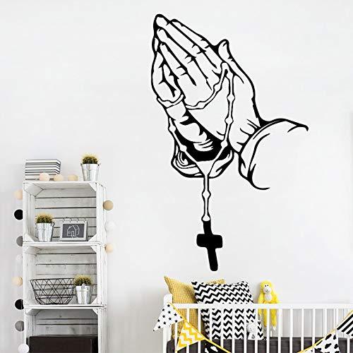 mlpnko Hand Vinyl Wandaufkleber Dringende Gebetsabziehbilder Zusammenstellen Frömmigkeit Aufkleber Home Decoration87X139cm