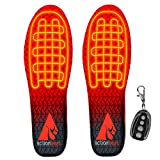 ActionHeat Rechargeable Heated Insoles with Remote – Deodorized, Breathable, Fleece Lined Soft Shell Insoles with Heated Toes