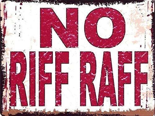 Placa de metal para pared, publicidad vintage, 20 x 15 cm, para bar, bar, cueva, hogar, dormitorio, oficina, cocina, regalo, no Riff Raff Advertencia rojo divertido broma retro
