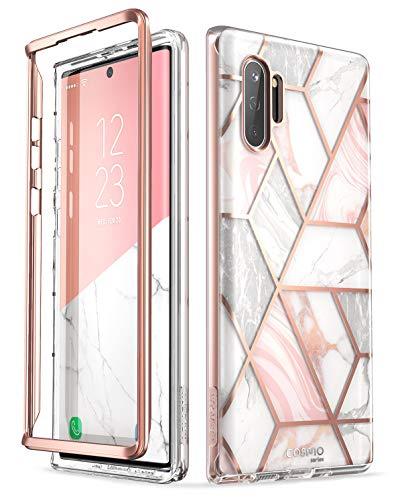 i-Blason Hülle für Samsung Galaxy Note 10+ Plus Hülle Glitzer Handyhülle Bumper Schutzhülle Roubst Cover [Cosmo] OHNE Bildschirmschutz 6.8 Zoll 2019 Ausgabe, Marmor