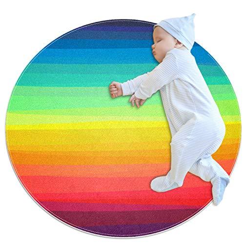 HDFGD Alfombra de cocina lavable entrada alfombra escritorio alfombra baño acento alfombra, colorido arco iris rayas