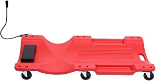 Floor Creeper, 40in 300lbs Load Bearing Red Creepers Lying Board with Light for Car Vehicle Garage Repairing Tool