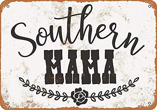 mengliangpu8190 Tin Sign 10 x 14 Metal Sign Southern Mama Vintage Look Wall Sign Decorative Sign Retro Sign Aluminum Sign