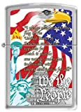 Zippo We the People Lighter Brushed Chrome