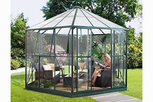 Vitavia Gewächshaus Hera aus Alu/Glas grün Hera 9000, ESG/HKP 6 mm