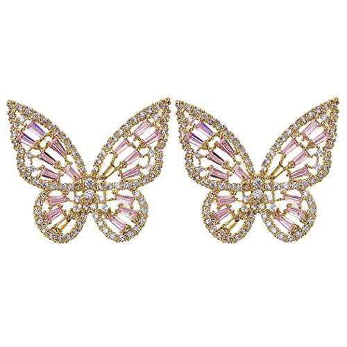 Fascigirl Pendientes De Oreja De Mujer Pendientes De Mariposa De Diamantes De Imitación De Moda...